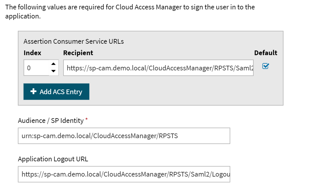Cloud Access Manager 8 1 3 - How To Configure as an Identity
