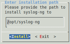 Installation path
