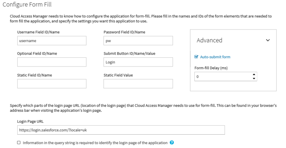 Cloud Access Manager 8 1 4 - How To Configure Advanced Form